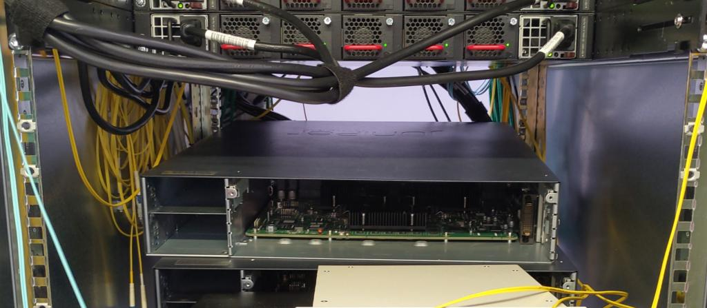 Data centre rack - front view
