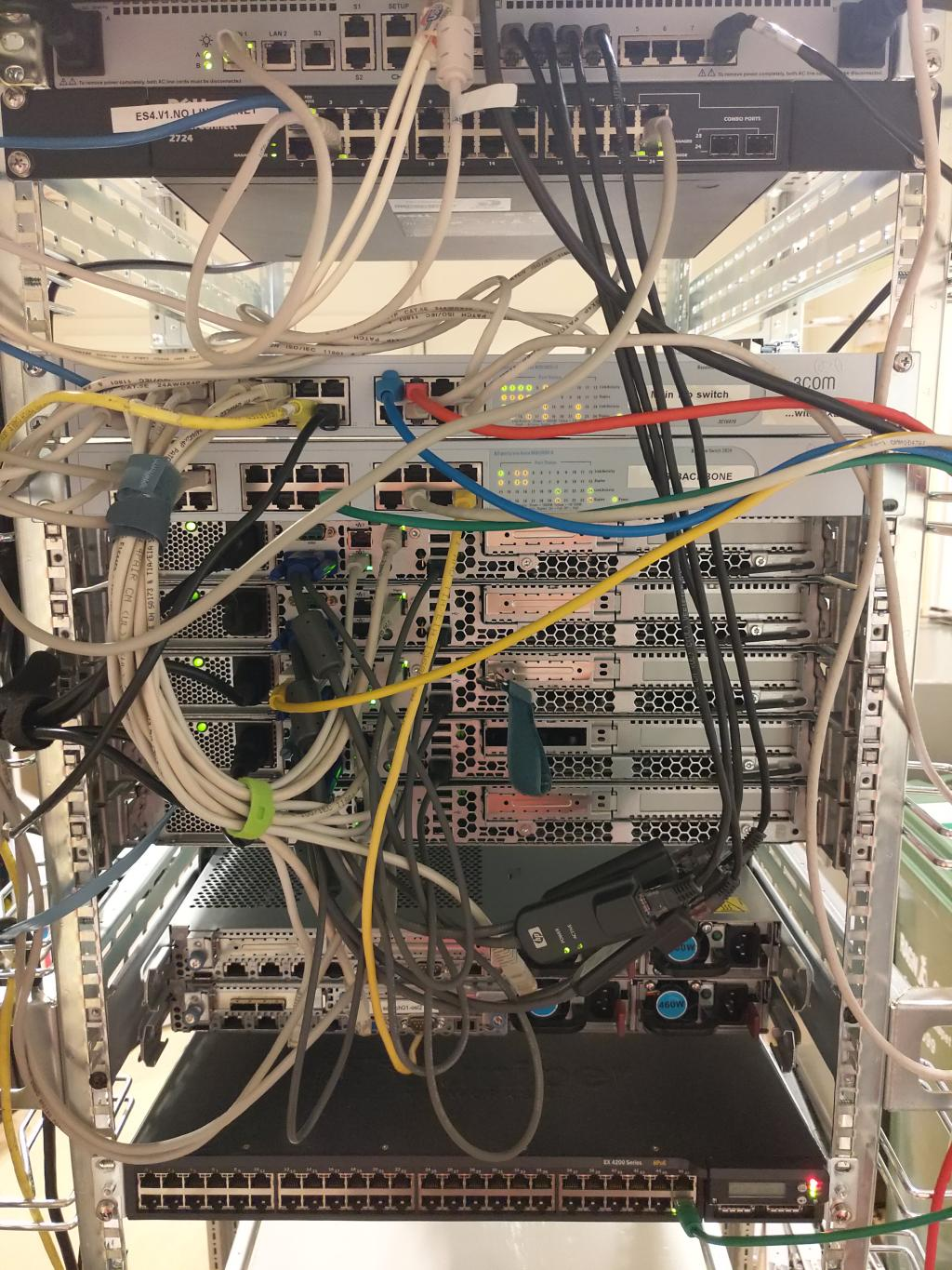 Lab rack - rear view